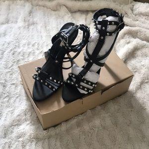 BNIB studded strappy Zara heels. Size 7.5 / 38